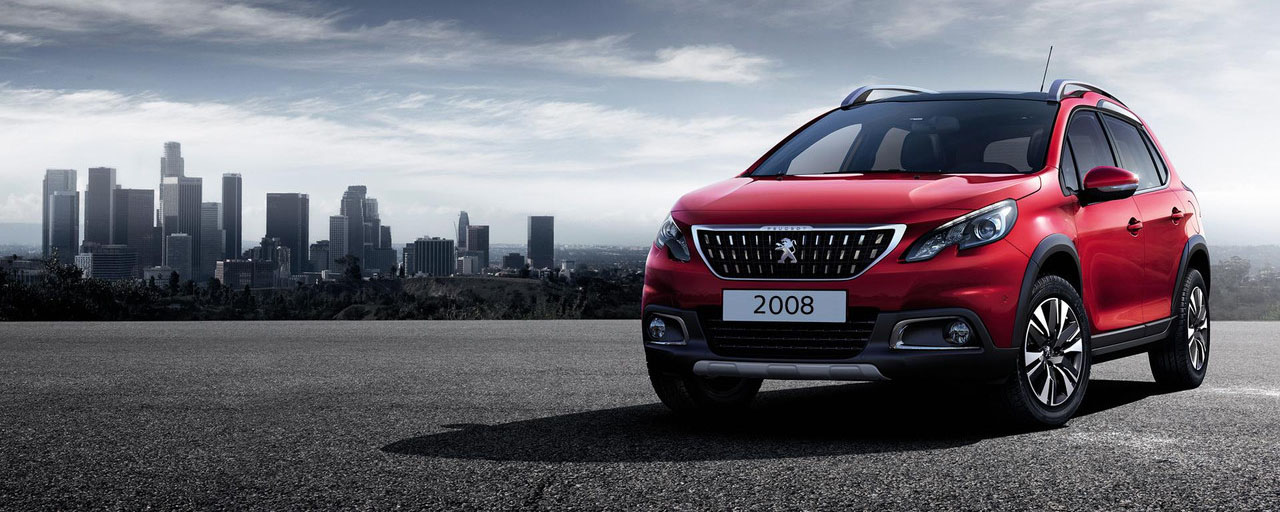 Peugeot New 2008 SUV PureTech red