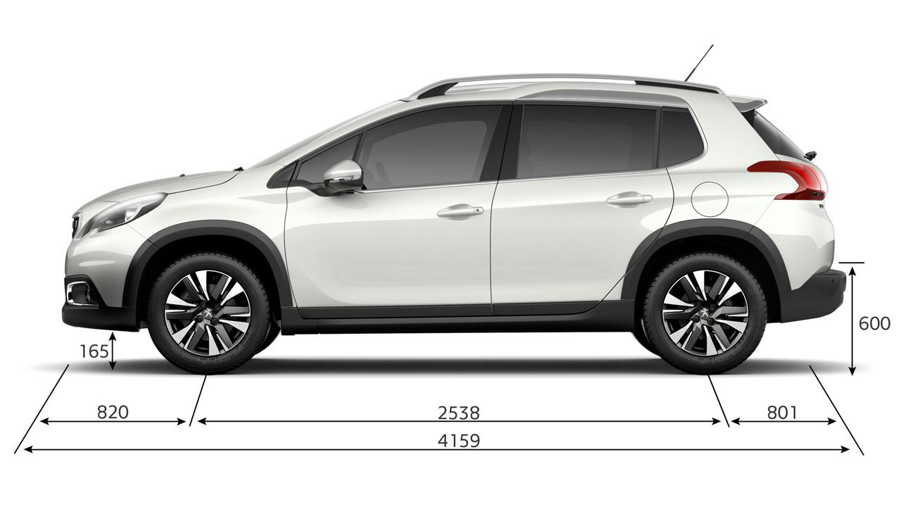 Peugeot New 2008 SUV PureTech dimensions