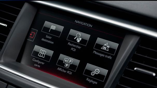 Peugeot 508 GT Line touch screen