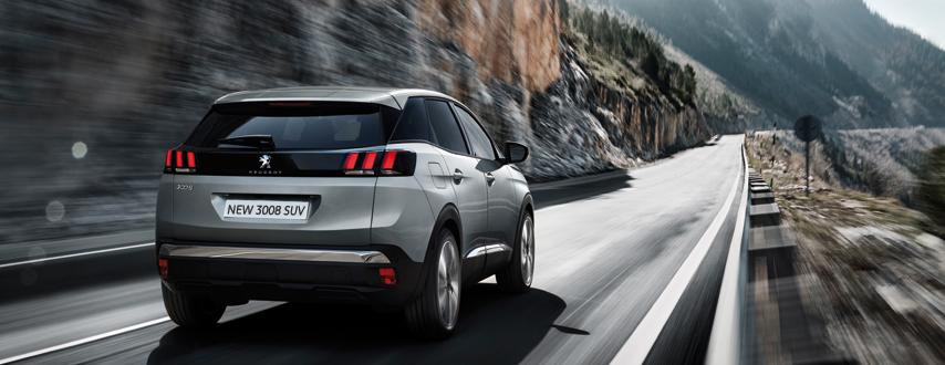 Peugeot 3008 SUV rear view