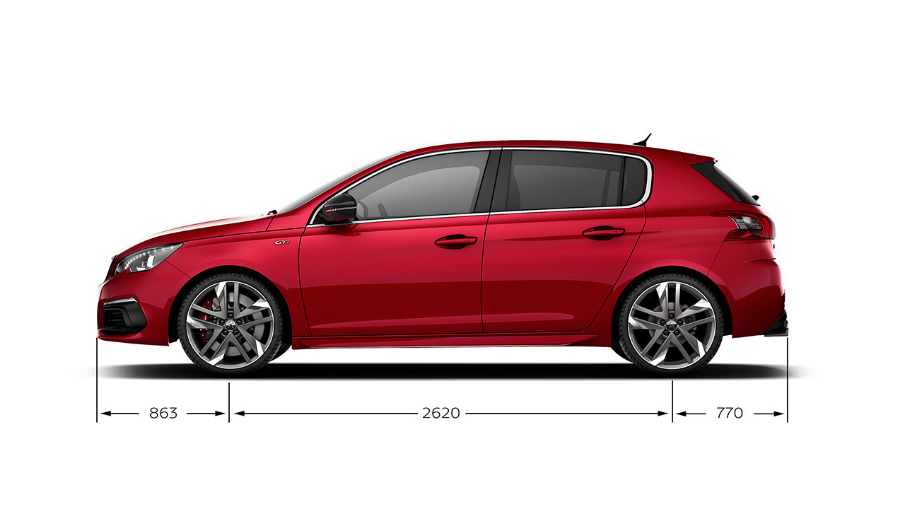 Peugeot 308 GTi by Peugeot Sport dimensions