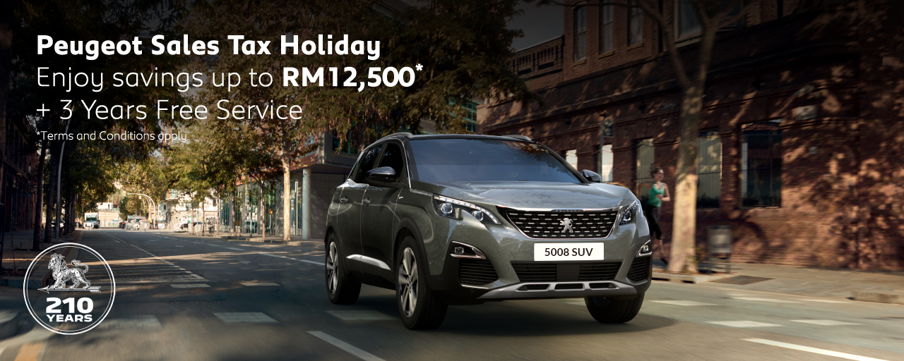 Peugeot Sales Tax Holiday